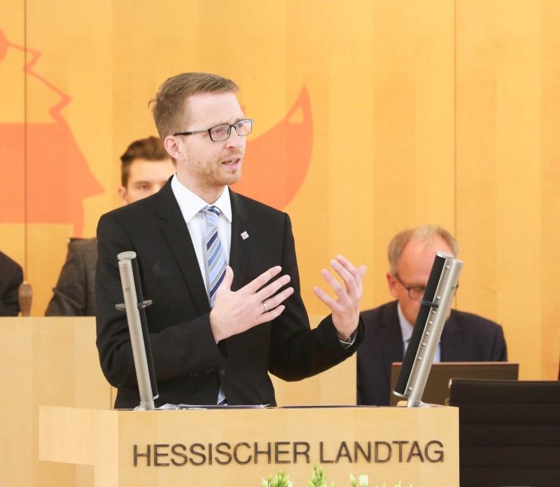 Seit genau einem Jahr für den Vogelsbergkreis und Laubach im Hessischen Landtag: Michael Ruhl (CDU) aus Herbstein